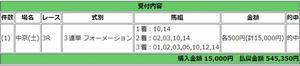 3月10日中京3レースPAT画面